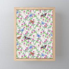 Clover Meadow Pattern - Neutral Framed Mini Art Print