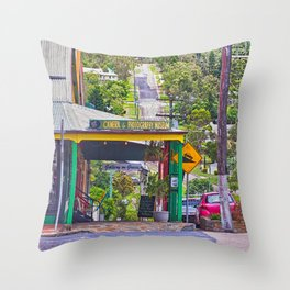 Beautiful street in the country Throw Pillow