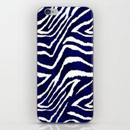 Animal Print: Zebra Blue and White iPhone Skin