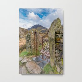 Gate To Tryfan Snowdonia Metal Print