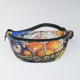 Gold and Jewels on board Fanny Pack