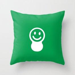 luga green Throw Pillow