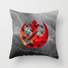 Star Wars Wraith Squadron in the Clouds Throw Pillow