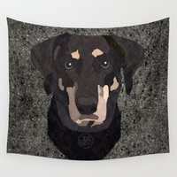 puppies Wall Tapestries featuring My Soulmate :) by ArtLovePassion