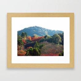 Autumn Temple Framed Art Print