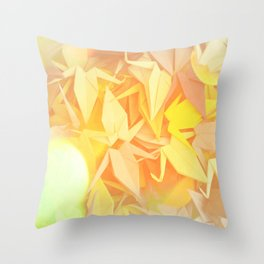 Senbazuru | shades of yellow Throw Pillow