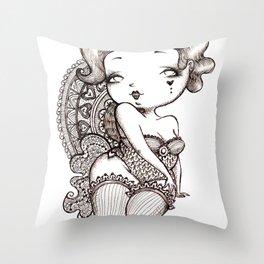 Chubby Burlesque Throw Pillow