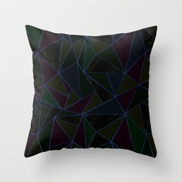 Marble pastel triangles-Gold Throw Pillow
