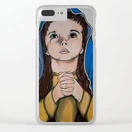 The Holy Child Mary Clear iPhone Case