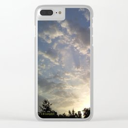 """"""" Sunset Glow """" Clear iPhone Case"""