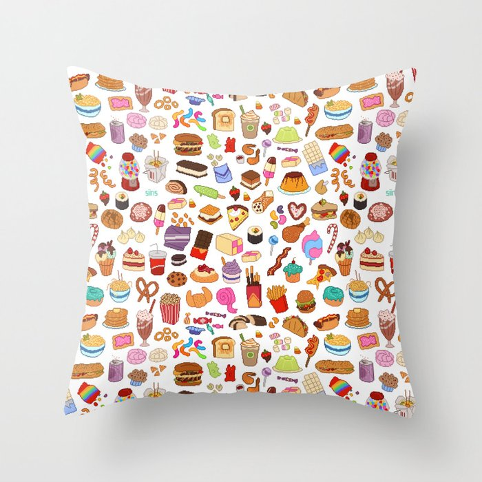 Cute Throw Pillow Society6 : Cute food Throw Pillow by siins Society6