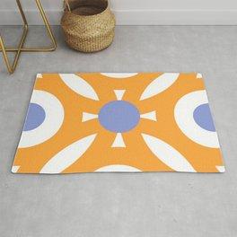 Orange Tile Rug