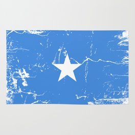 Somalia flag with grunge effect Rug