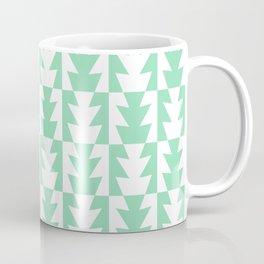 Art Deco Jagged Edge Pattern Mint Green Coffee Mug