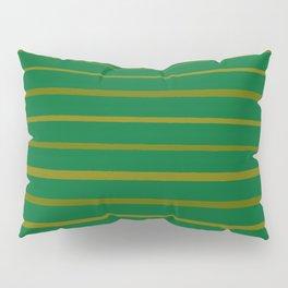 Emerald Green and Honey Gold Thin Stripes Pillow Sham