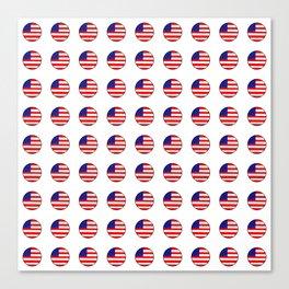 Flag of Usa in a polka dot. Canvas Print