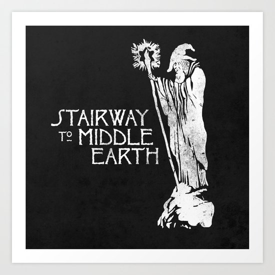 stairway to middle-earth Art Print