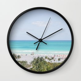South Beach Miami  Wall Clock