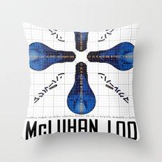 McLuhan 100  Throw Pillow