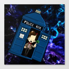 Tardis in space Doctor Who 11 Canvas Print