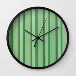 Stripes - Green Wall Clock