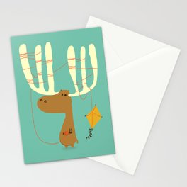 A moose ing Stationery Cards
