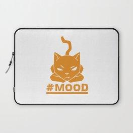 #MOOD Cat Orange Laptop Sleeve