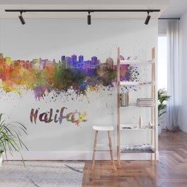 Halifax skyline in watercolor Wall Mural