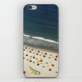 Tel-Aviv beach at summer, high from above, Israel, scaned sx-70 Polaroid iPhone Skin