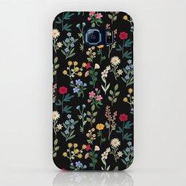 Spring Botanicals Black iPhone Case