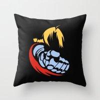 fullmetal Throw Pillows featuring Minimal Edward  by jpmdesign