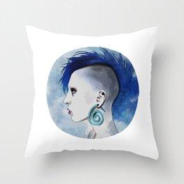 Watercolor Mohawk Throw Pillow
