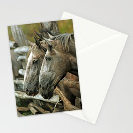 over the fence Stationery Cards