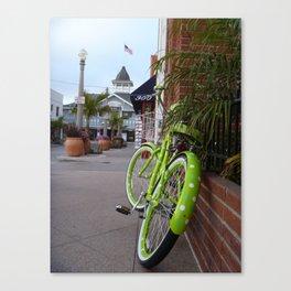 The Green Bike Canvas Print