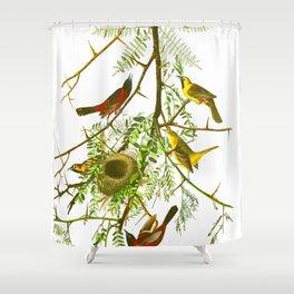 Orchard Oriole Bird Shower Curtain