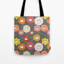 Talking Garden (gray) Tote Bag