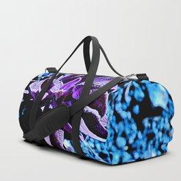 Indigo purple succulent plants alien planet Duffle Bag