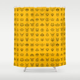 071 70s Robots Shower Curtain