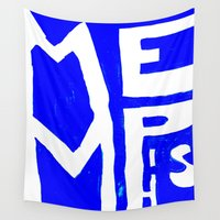 memphis Wall Tapestries featuring MEMPHIS by John Weeden