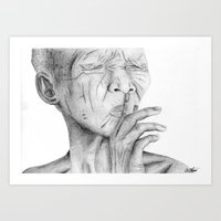Cultural Faces Piece Art Print