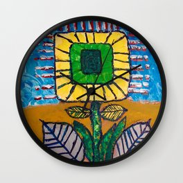 Wild Flower Wall Clock