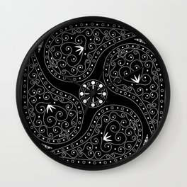 White & Black Coordination Wall Clock
