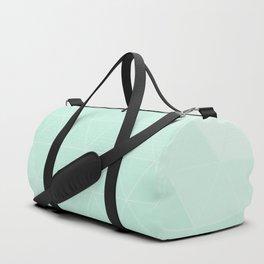 Mint Green Geometric Line Triangle Duffle Bag