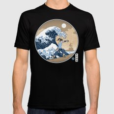 The Great Wave of Republic City Mens Fitted Tee MEDIUM Black