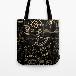 Physics Math Chemistry Biology Astronomy I Teacher Professor Parting Gift Tote Bag
