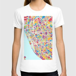 Liverpool England Street Map T-shirt