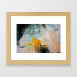 Blue Pink Art Print Framed Art Print