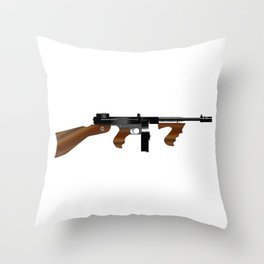 Tommy Gun Throw Pillow