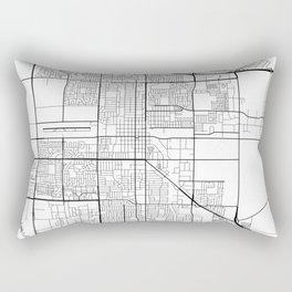 Oxnard Map, USA - Black and White Rectangular Pillow