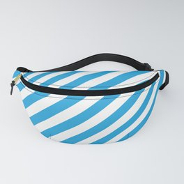Oktoberfest Bavarian Blue and White Candy Cane Stripes Fanny Pack